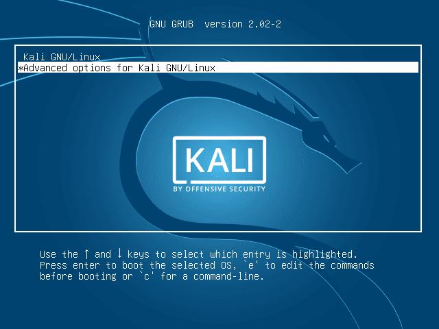 Cara Reset Password Root Kali Linux
