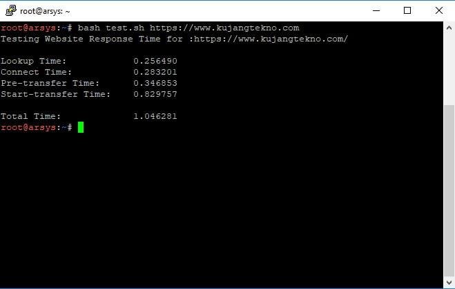 Cara Test Kecepatan Loading Website Menggunakan Terminal Linux